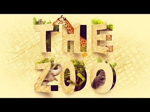 Amazing Cutout ZOO TYPOGRAPHY Text Effect Photoshop Tutorial