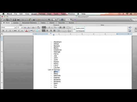 How to Automatically Eliminate Duplicate Lists in Microsoft Word : Microsoft Word Help