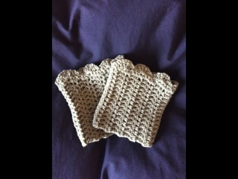 crochet boot cuffs - step by step instructions by diy from home