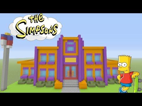 Minecraft Tutorial: How To Make Springfield Elementary