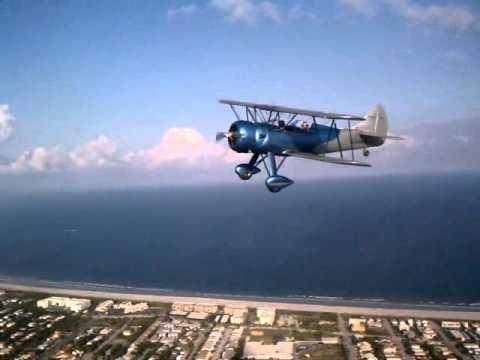Florida Biplanes Waco UPF-7 Ride Over Cocoa Beach Florida