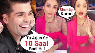 Karan Johar Makes Fun of Malaika Arora Khan Age Gap With Arjun Kapoor At India