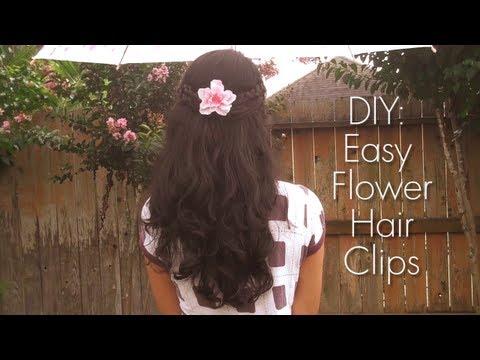 DIY: Easy Flower Hair Clips
