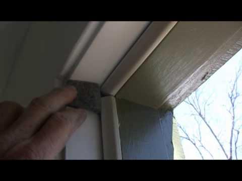 cold air leaking around a door Weatherstripping a door #1
