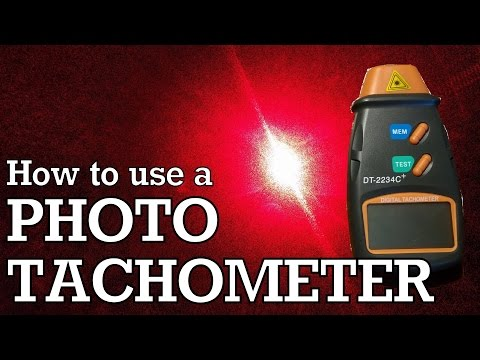 How To Use a Photo Tachometer - DT2234C+ Review