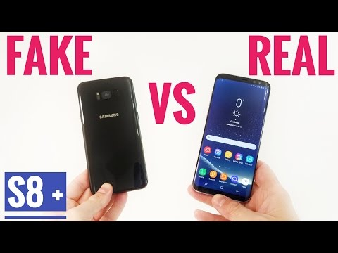 FAKE VS REAL Samsung Galaxy S8 Plus - Buyers Beware!