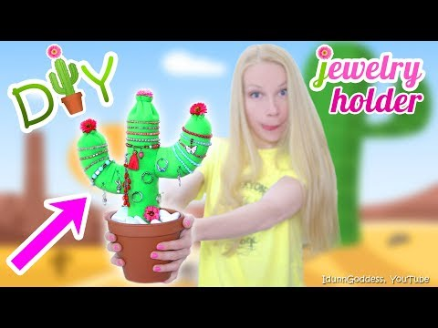 How To Make A Cactus Jewelry Organizer – DIY Stuffed Cactus Jewellery Holder