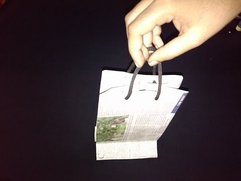 Newspaper Paper Bag - Paper Crafts