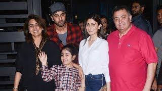 Ranbir Kapoor On A Dinner Date With Family | Rishi Kapoor, Neetu Singh, Riddhima Kapoor Sahani
