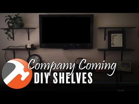 Company Coming! Need Some DIY Shelves - I CAN MAKE THAT