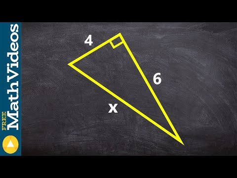 Applying pythagorean theorem to find the length of a hypotenuse