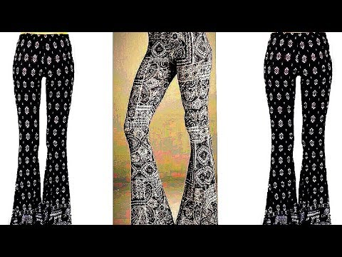Latest designer Bell bottom Trouser cutting and stitching(DIY) bell bottom fashion (part 1)