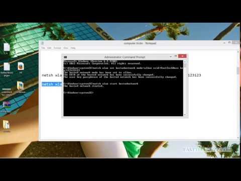 WiFi HotSpot For Windows 8.1, Windows 8 Using Command Prompt /CMD