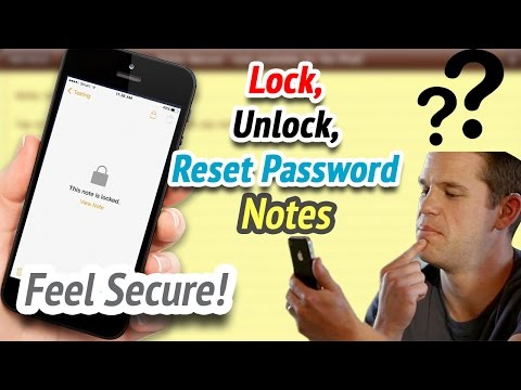 How to Lock your Notes, Change password, Reset password Notes - 2017