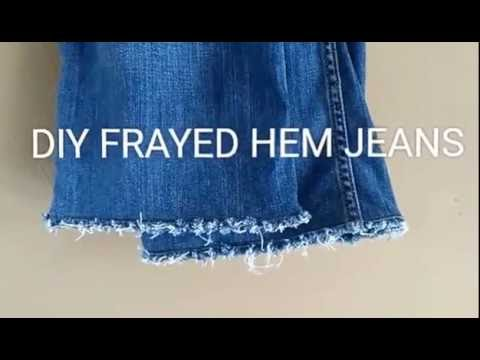 DIY FRAYED HEM JEANS | It's Ligaya