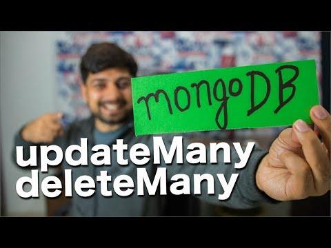 UpdateMany and deleteMany in mongoDB