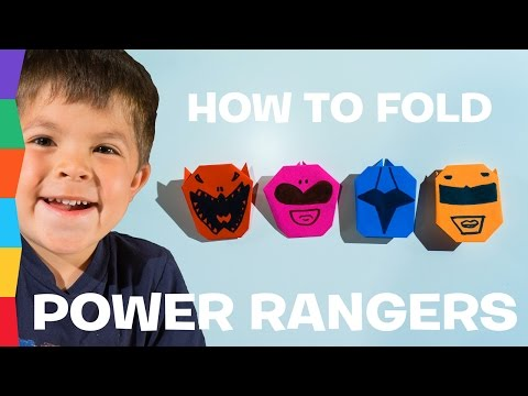 How to Fold POWER RANGERS Origami Masks - Easy Origami for Kids | ToyRap