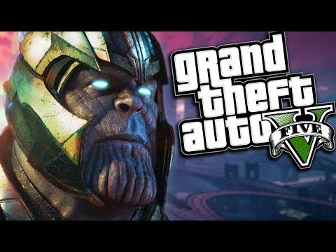GTA 5 Mods - AVENGERS INFINITY WAR MOD w/ THANOS SUPER POWERS (GTA 5