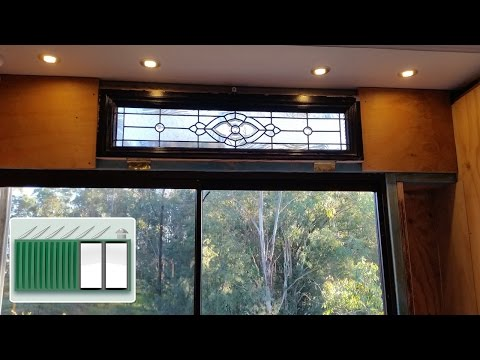 Shipping Container House – Install sliding glass door wall in shipping container bathroom