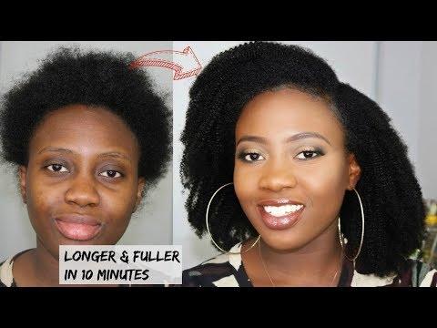 Fake It Till You Make It - GET LONGER AND FULLER NATURAL 4C HAIR IN 10 MINS   BETTERLENGTH