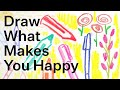 Draw What Makes You Happy Live Drawing Party May 29