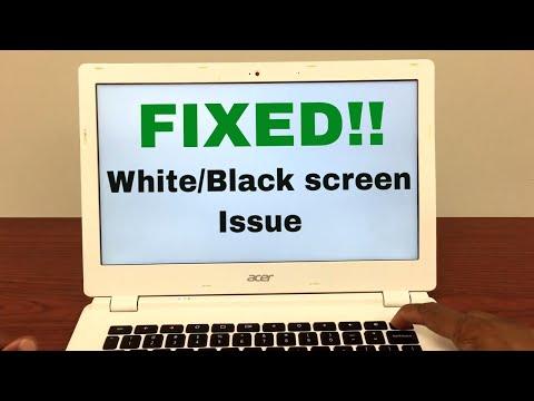 FIXED: Chromebook has white/black screen