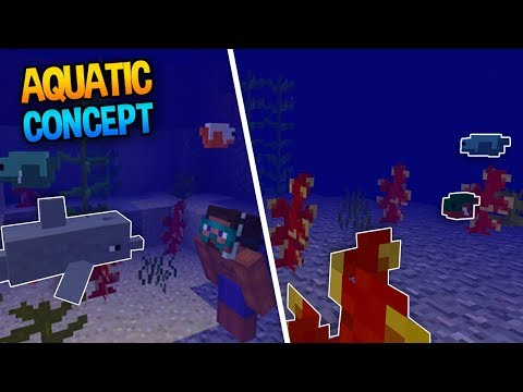 DOLPHINS, FISH & KELP! - ANOTHER Minecraft 1.4 Concept Addon (Aquatic Update)