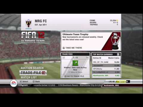 How to make coins for Beginners - FIFA 12 Ultimate Team