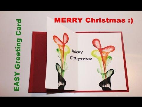 DIY - How to make Greeting card for Christmas
