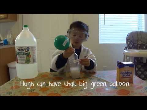 Toddler teaches chemical reactions