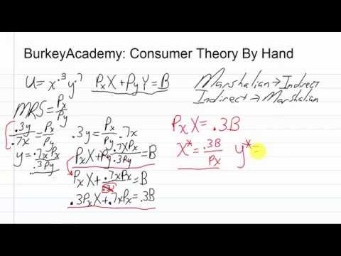 Advanced consumer theory by hand