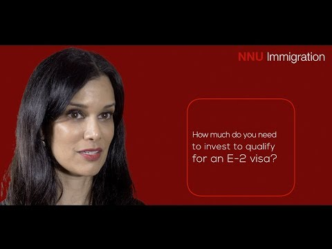 How much investment is needed to qualify for an E2 visa?