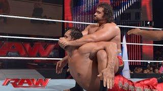 The Great Khali vs. Rusev: Raw, July 21, 2014
