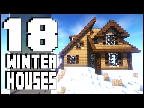 18 Minecraft Winter Houses + Download