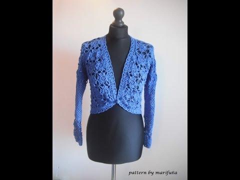 how to crochet elegant jacket bolero free pattern tutorial