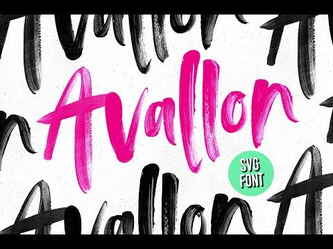 Avallon SVG Font - Install & Use