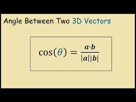 How to Find the Angle Between Two 3D Vectors