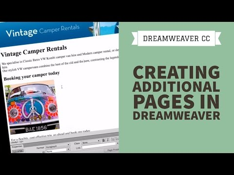 Creating Additional Pages in Dreamweaver CC [10/34]