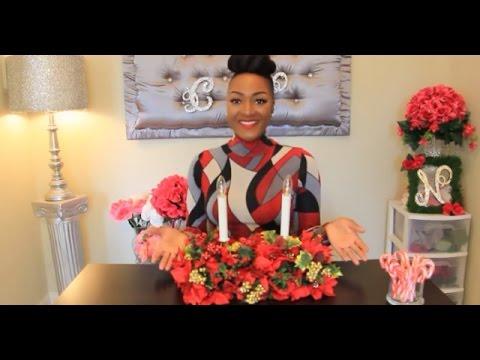 DIY Dollar Tree Poinsettia Floral Arrangement | Christmas Flowers