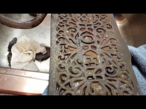 Barber Chair Rust Removal Restoration
