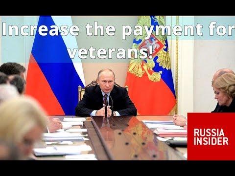 TAKING CARE OF VETERANS: Putin Orders Urgent Increase in Military Pensions