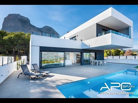 4k Video! New independet villas with plot in POLOP, la Nucia - Alicante (Costa Blanca)