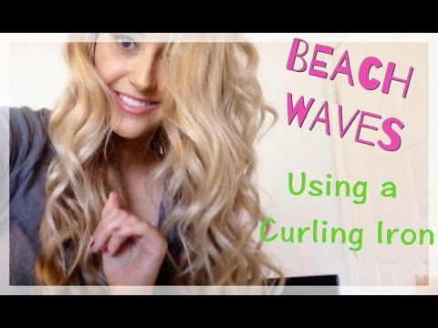 WAVY HAIR TUTORIAL - Using the curling iron you already own