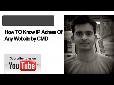 How to Know IP address of Any Website By Command Prompt