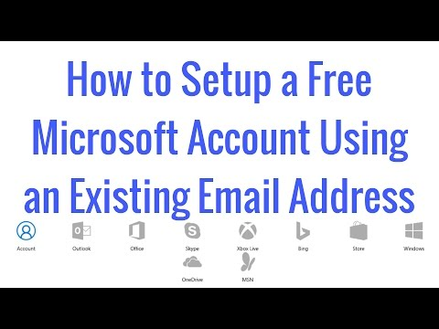 How to Setup a Free Microsoft Account Using an Existing Email Address