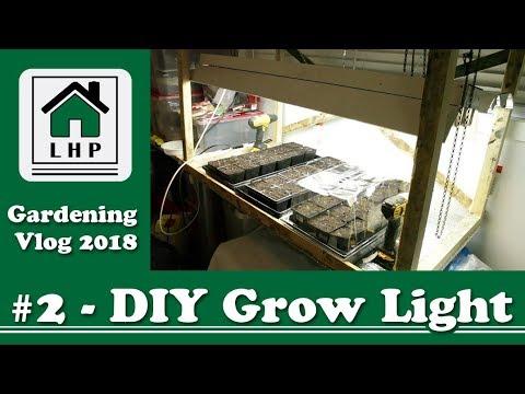 DIY Grow Light from Scrap Wood and Shop Lights - LHP