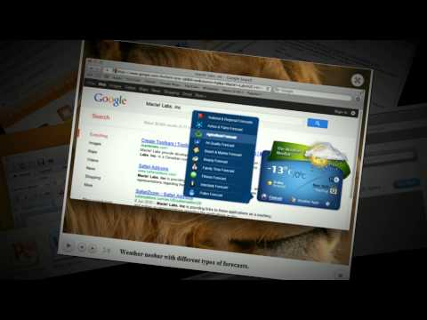 How to create toolbar in html