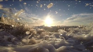 Waves Crashing onto The Beach - Royalty Free HD Video Stock Footage