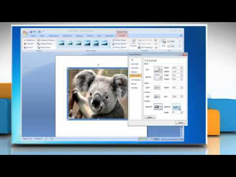 How to create 3D effects in Microsoft® Word 2007 on Windows® 7