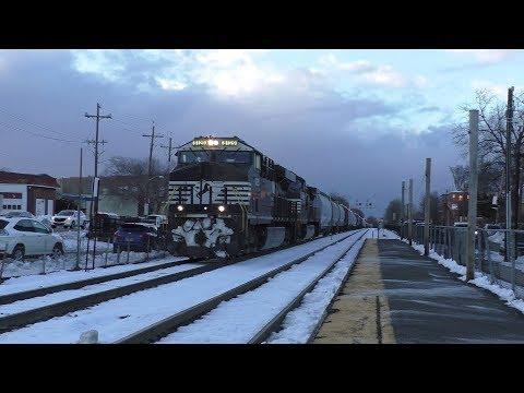 Norfolk Southern HD 60fps: Daylight H70 Rolls Through Rutherford NJ w/ ES44AC & C44-9W (3/9/18)